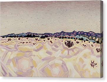 Atomic Meadow Canvas Print by Dale Beckman