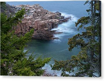 Atop Of Maine Acadia National Park Monument Cove  Canvas Print by Juergen Roth
