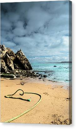 Attached To The Boat Canvas Print