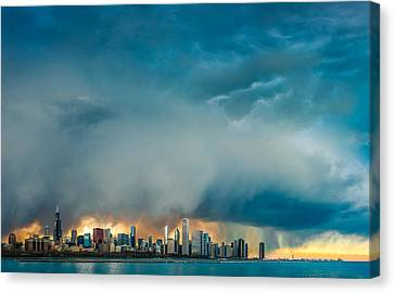 Attention Seeking Clouds Canvas Print by Cory Dewald