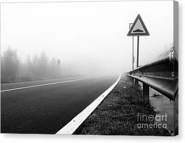 Alberi Canvas Print - Attention To Guardrail by Luigi Morbidelli