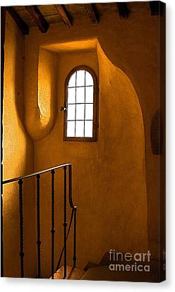 Canvas Print featuring the photograph Attic Stairs-fiesole St.francis Monastery by Nicola Fiscarelli