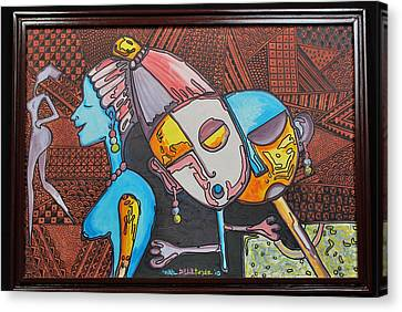 Attraction Of Femininity Canvas Print by Olawale Babatunde
