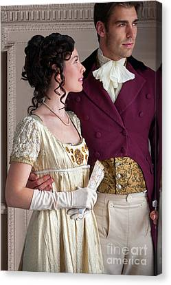 Canvas Print featuring the photograph Attractive Regency Couple by Lee Avison