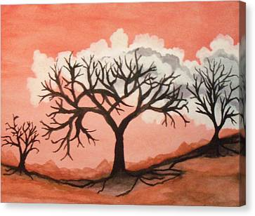 Atumn Trees Canvas Print by Connie Valasco