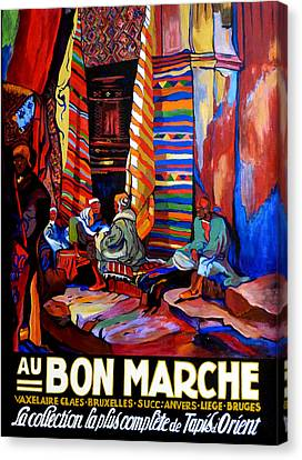 Canvas Print featuring the painting Au Bon Marche by Tom Roderick