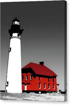 Au Sable Point Light Sc Canvas Print by Tim Richards