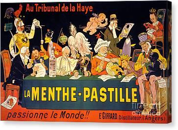Au Tribunal De La Haye La Menthe Pastille Vintage Canvas Print