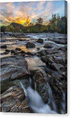 Canvas Print featuring the photograph Auasble River Sunset by Mark Papke