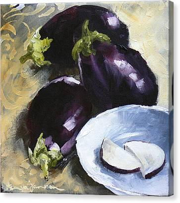 Aubergines Canvas Print