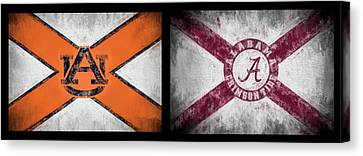 Auburn Alabama House Divided Canvas Print