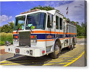 Auburn Fire Department  Canvas Print by JC Findley
