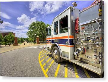 Auburn Fire Department Response Canvas Print by JC Findley