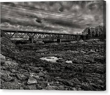 Auburn Lewiston Railway Bridge Canvas Print by Bob Orsillo