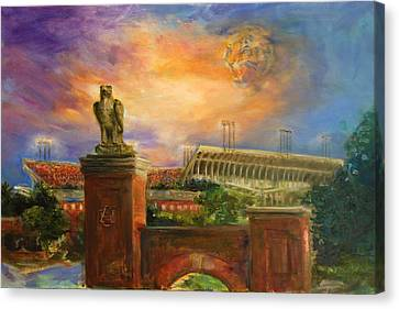 Auburn Skies Canvas Print by Ann Marshall Bailey