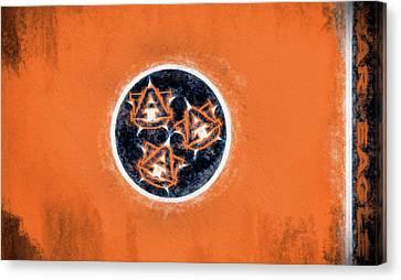 Auburn Tennessee Flag Canvas Print by JC Findley