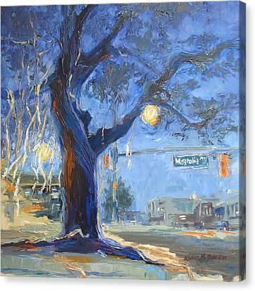 Auburn Toomer's Corner - Part Of College Series Canvas Print by Karen Mayer Johnston