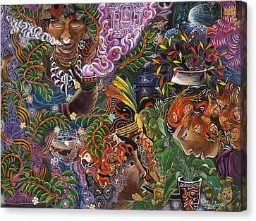 Auca Yachai Canvas Print by Pablo Amaringo
