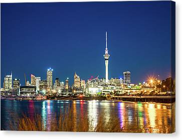 Auckland At Dusk Canvas Print