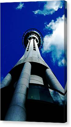 Auckland Sky Tower Canvas Print by Ashlee Terras