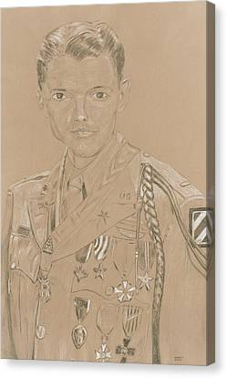 Ww Ii Canvas Print - Audey Murphy by Dennis Larson