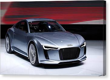 Audi E Tron 2010 New Wide Canvas Print by F S