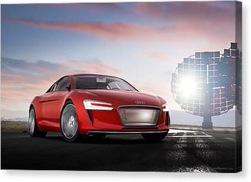 Audi E Tron 5  Canvas Print by F S
