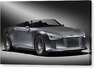 Audi E Tron Spyder Concept 3 Wide Canvas Print by F S