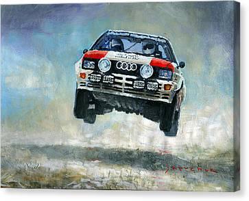 Audi Quattro Gr.4 1982 Canvas Print by Yuriy Shevchuk