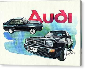 Audi Quattro Sport Canvas Print by Yoshiharu Miyakawa