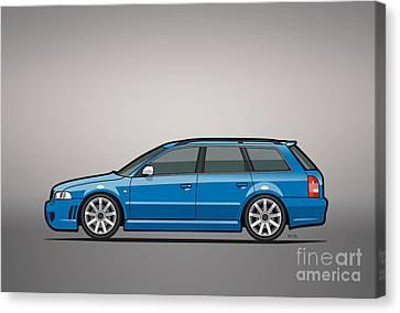 Wagon Canvas Print - Audi Rs4 A4 Avant Quattro B5 Type 8d Wagon Nogaro Blue by Monkey Crisis On Mars