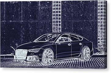 Audi Rs7 Vossen  Canvas Print by PixBreak Art