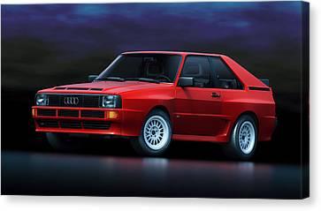 Audi Sport Quattro Canvas Print by Marc Orphanos