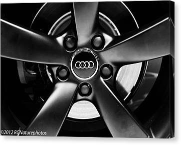 Audi Wheel  Monochrome Canvas Print