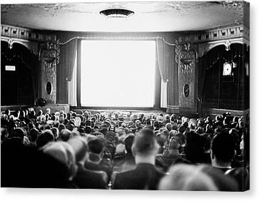 Audience In Movie Theater, 1935 Canvas Print by Archive Holdings Inc.