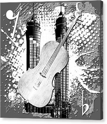 Audio Graphics 1 Canvas Print by Melissa Smith