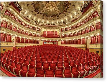 Canvas Print featuring the photograph Auditorium Of The Great Theatre - Opera by Michal Boubin