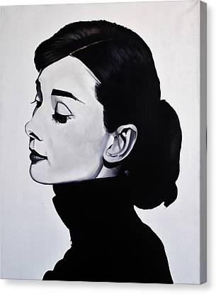 Audrey Hepburn 1 Canvas Print by Brian Broadway