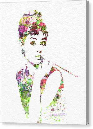 Movie Art Canvas Print - Audrey Hepburn 2 by Naxart Studio