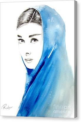 Audrey Hepburn 3 Canvas Print by Andrea Realpe