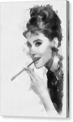 Audrey Hepburn Actress Canvas Print