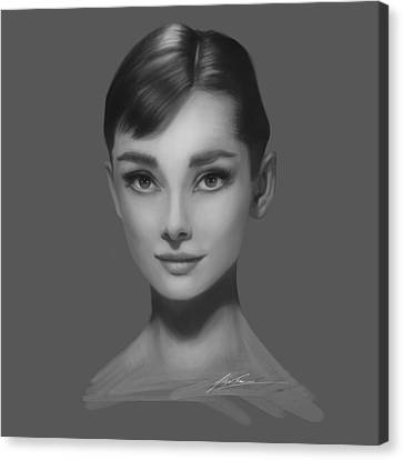 Audrey Hepburn Canvas Print by Alex Ruiz