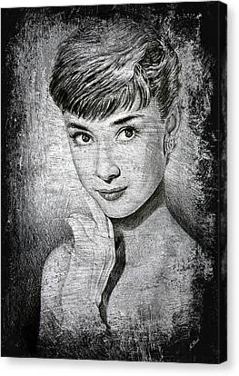Audrey Hepburn Canvas Print by Andrew Read