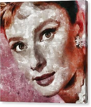 Audrey Hepburn By Mary Bassett Canvas Print