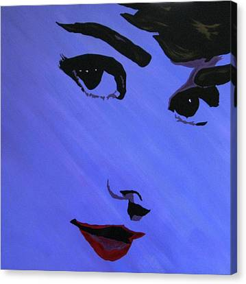 Canvas Print - Audrey Hepburn-eyes For You by Bill Manson