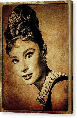 Audrey Hepburn Hollywood Actress Canvas Print by Esoterica Art Agency