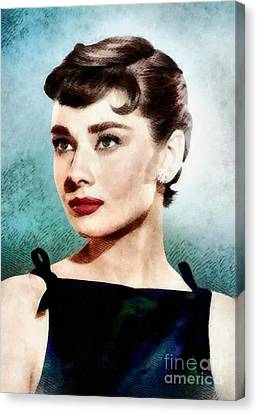 Audrey Hepburn, Hollywood Legend By John Springfield Canvas Print