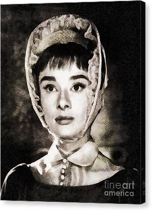 Audrey Hepburn In War And Peace Canvas Print