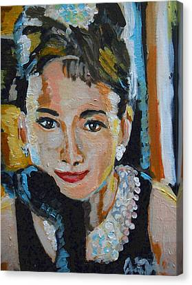 Audrey Hepburn  Canvas Print by Jon Baldwin  Art