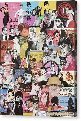 Audrey Hepburn Canvas Print by Marijo Communier